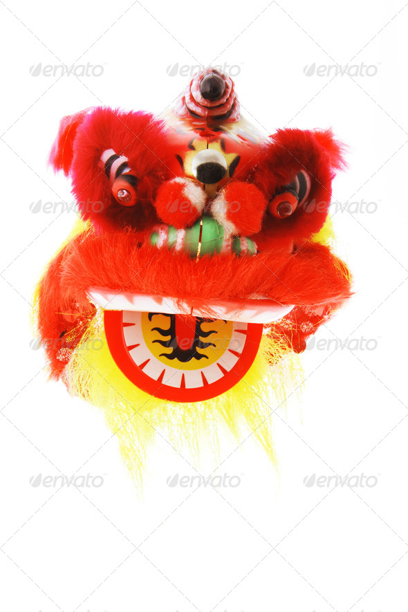 Miniature Lion Dance Ornament - Stock Photo - Images