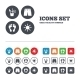 Beach Holidays Icons. Cocktail, Human Footprints - GraphicRiver Item for Sale