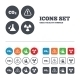 Attention Radiation Icons. Chemistry Flask. - GraphicRiver Item for Sale
