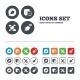 Birds Icons. Social Media Speech Bubble. - GraphicRiver Item for Sale