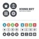 Star And Menu List Signs. Checklist, Gear. - GraphicRiver Item for Sale