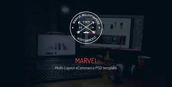 Marvel – Multi-Layout eCommerce PSD Template