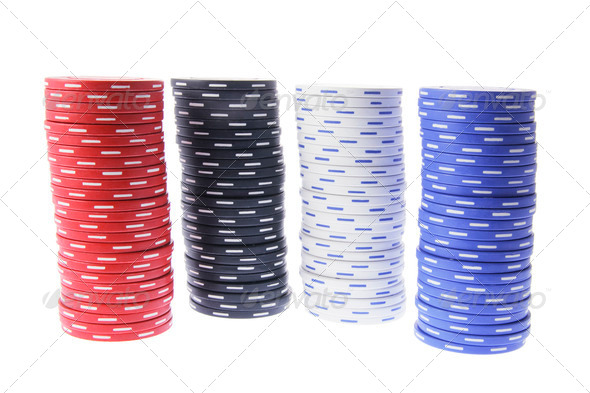 Stacks of Poker Chips - Stock Photo - Images