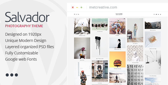 Salvador - Clean Photography Theme