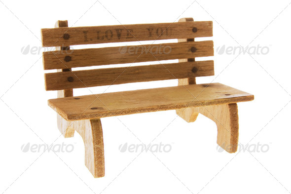 Miniature Wooden Bench - Stock Photo - Images
