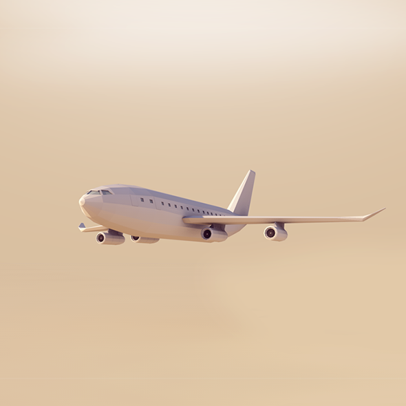 Cartoon Low Poly AirBus - 3DOcean Item for Sale
