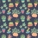 Potted Plants Seamless Pattern - GraphicRiver Item for Sale