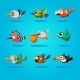 Funny Cartoon Birds, Vector Illustration - GraphicRiver Item for Sale
