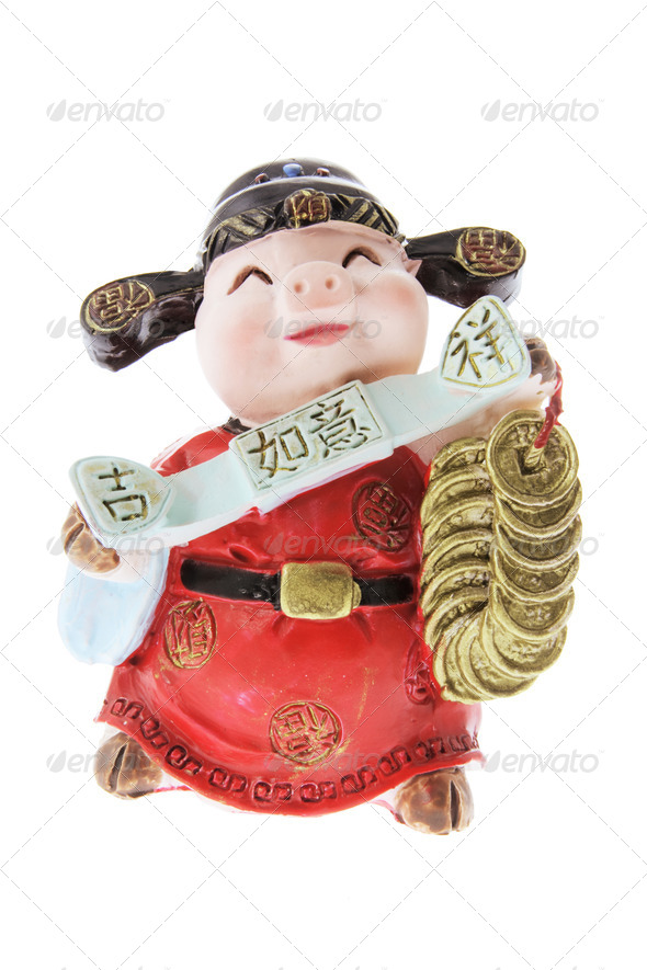 Miniature Pig Ornament - Stock Photo - Images