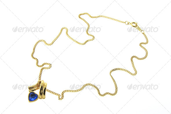 Gold Chain with Pendant - Stock Photo - Images