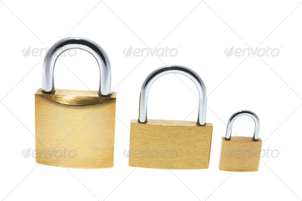 Three Locks - Stock Photo - Images