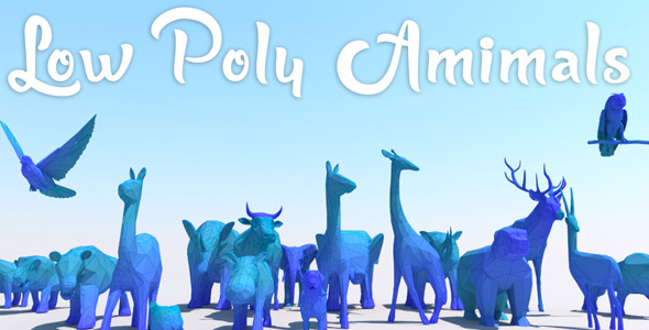 Low Poly Animals Set - 3DOcean Item for Sale