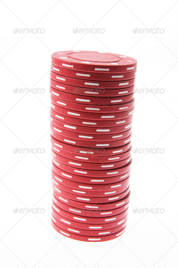 Stack of Poker Chips - Stock Photo - Images