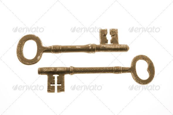 Antique Skeleton Keys - Stock Photo - Images