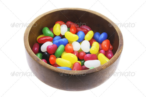 Jelly Beans in Bowl - Stock Photo - Images