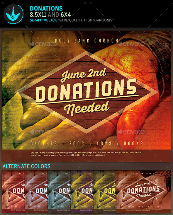 Donation Church Flyer Template By Seraphimblack  Graphicriver