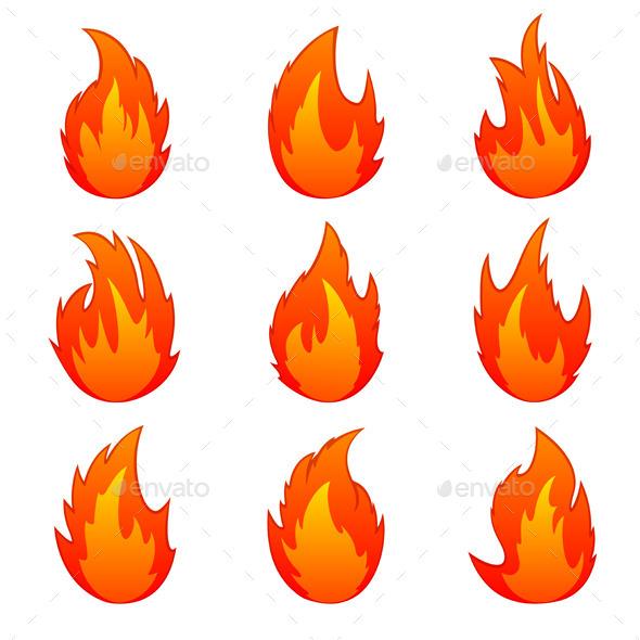 Set of Flames - Miscellaneous Vectors