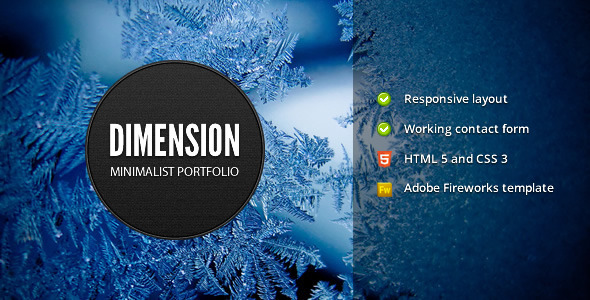 Dimension – Minimalist Portfolio Template