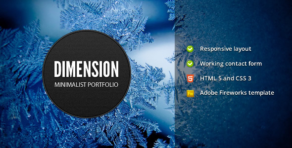 Free Download Dimension - Minimalist Portfolio Template Nulled Latest Version