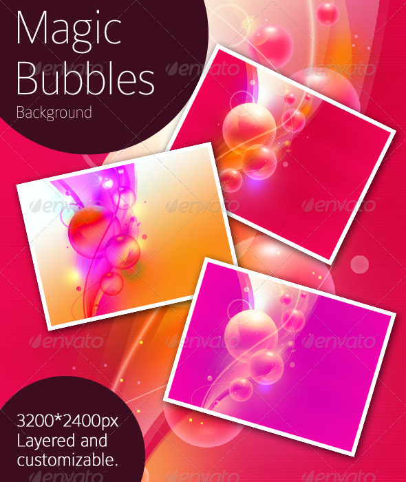 Magic Bubbles Background - Backgrounds Graphics