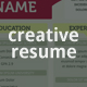 Creative Resume Template - GraphicRiver Item for Sale