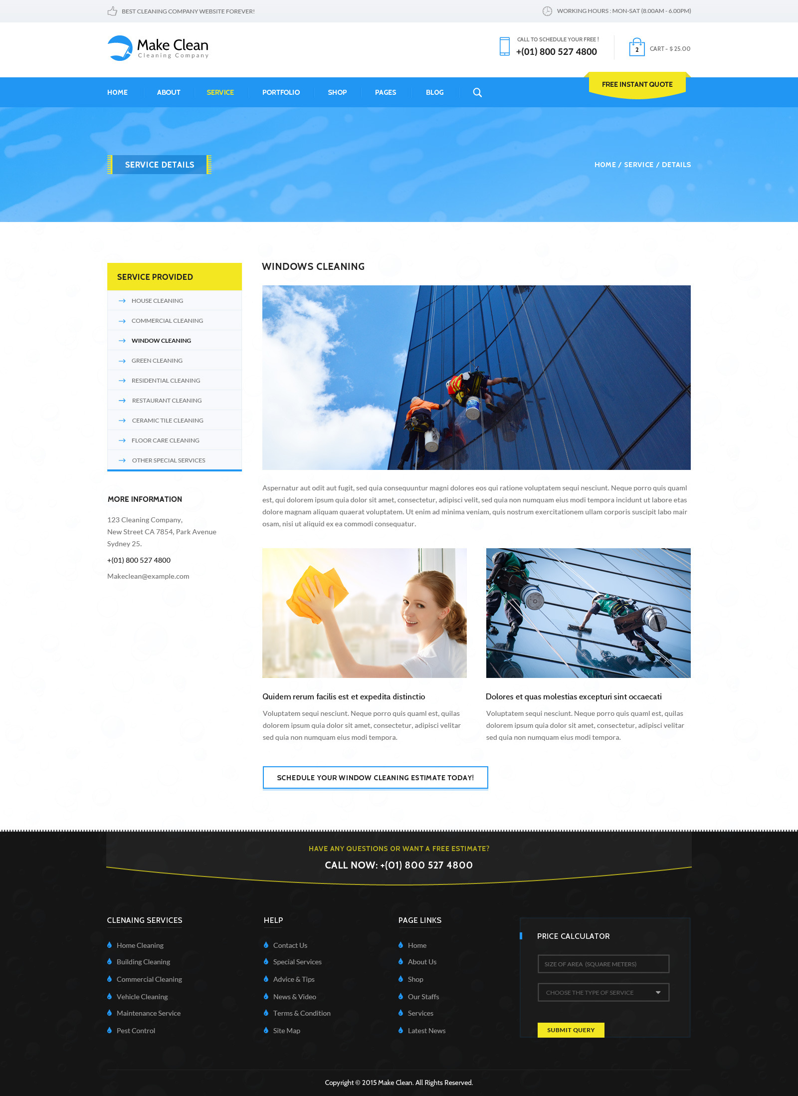 make clean cleaning company html template by wpmines themeforest