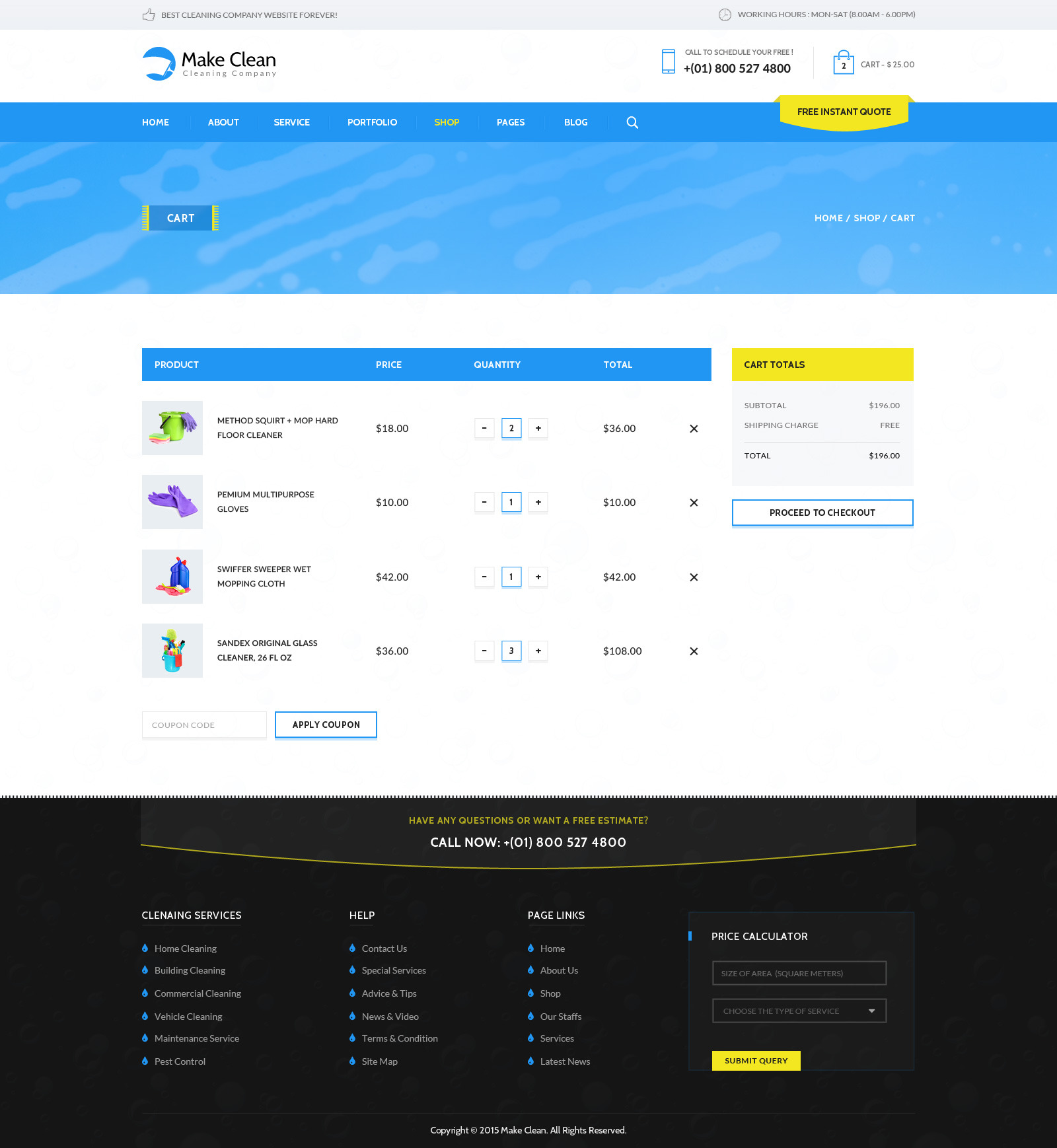 Clean html template 50 powerful minimalist website templates web make clean cleaning company html template by wpmines themeforest accmission Images