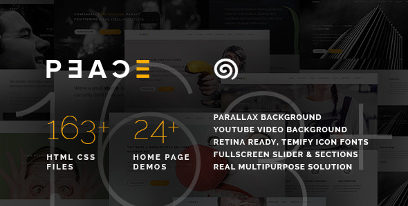 Peace – Responsive Multipurpose HTML5 Template v1.1