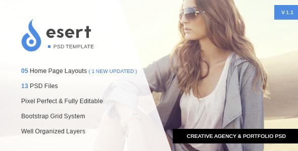 Desert – Agency & Portfolio PSD Template