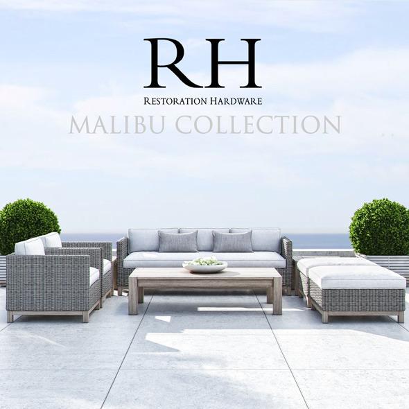 Restoration Hardware - Malibu Collection - 3DOcean Item for Sale