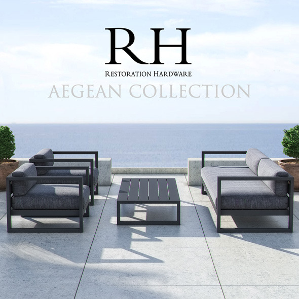 Restoration Hardware - Aegean Collection - 3DOcean Item for Sale