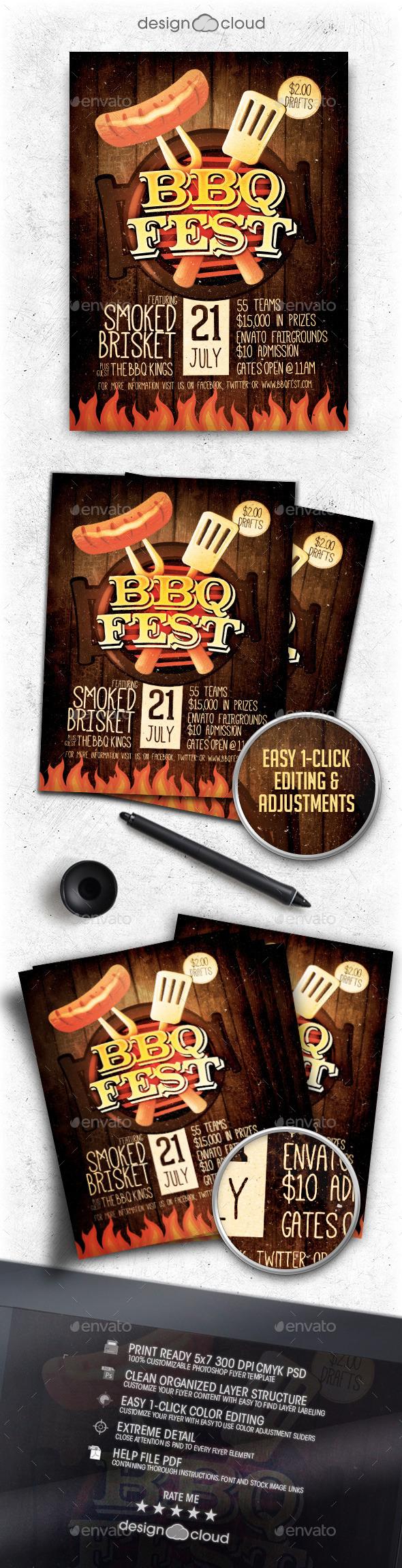 BBQ Festival Flyer Template Vol. 1 - Miscellaneous Events