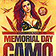 Memorial Day Camo Party Flyer - GraphicRiver Item for Sale