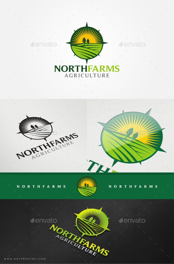 Farm Fields Logo Template - Nature Logo Templates