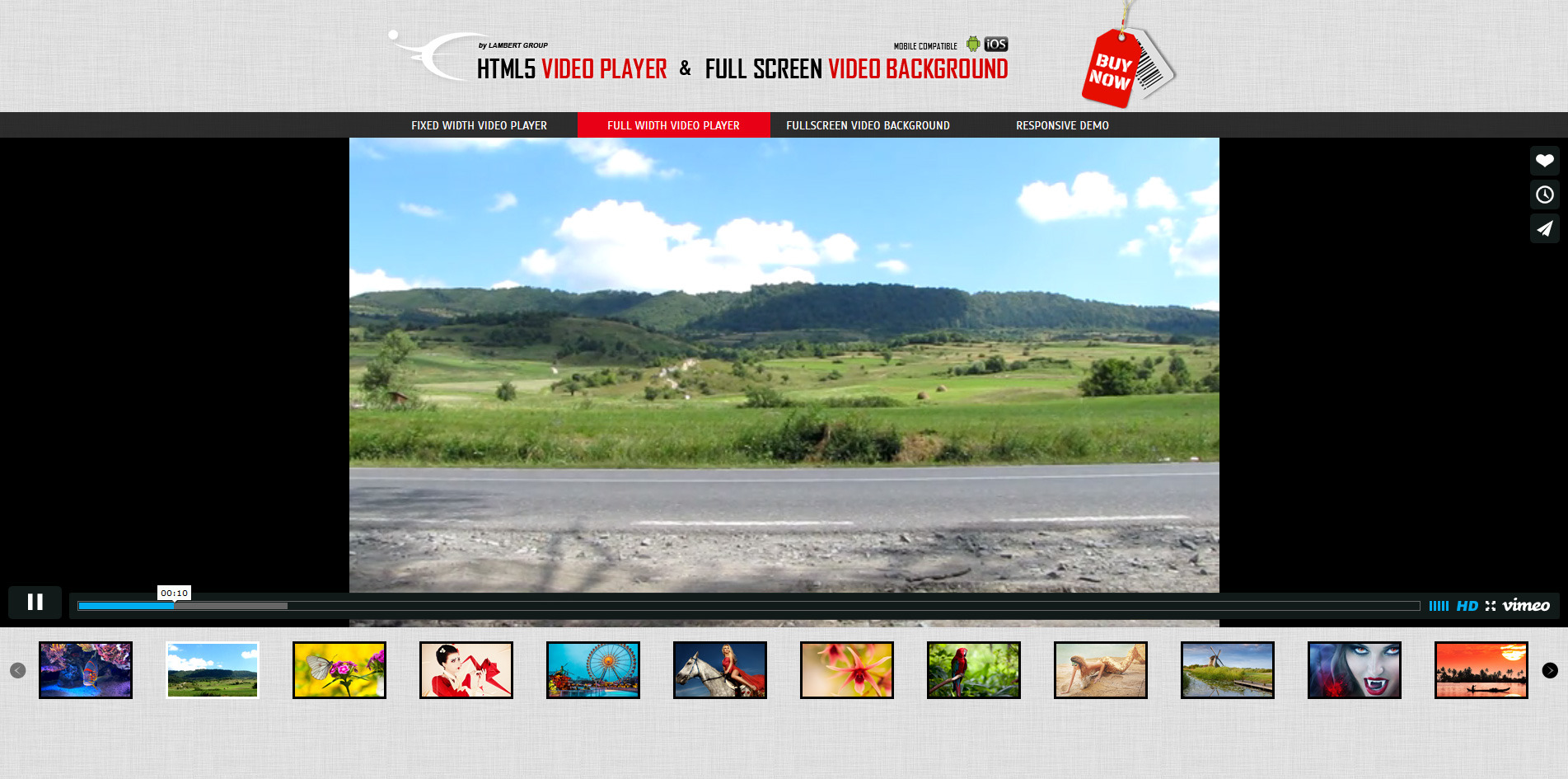 Html5 video players uber bundle by lambertgroup codecanyon for Html5 video player template