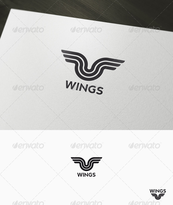 Wings Logo - Symbols Logo Templates