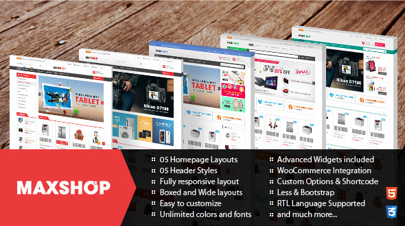 Maxshop – Responsive WordPress WooCommerce Theme