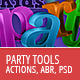 Party Tools Kit - 300 DPI Actions, PSD, Brush - GraphicRiver Item for Sale