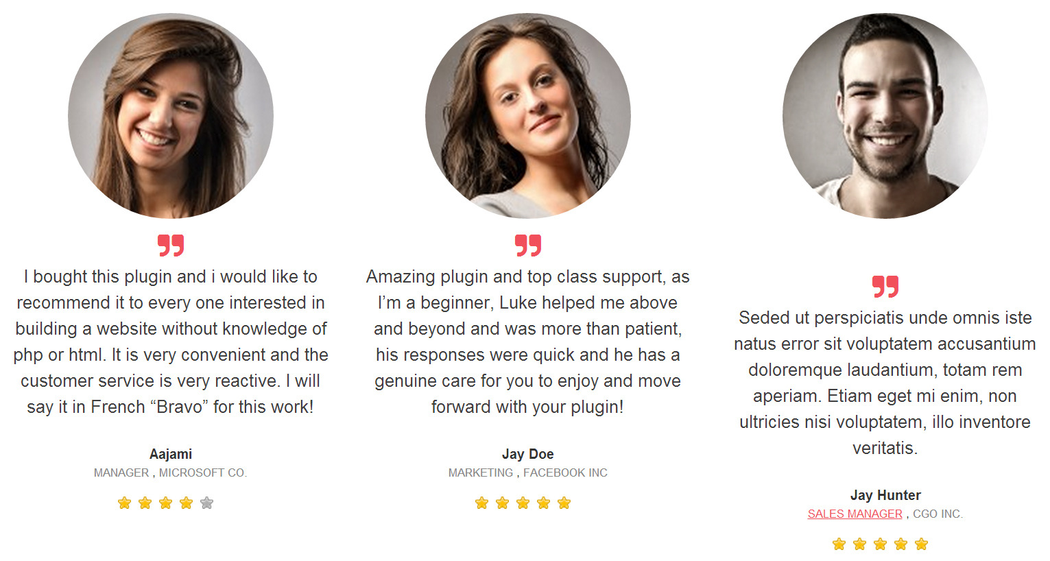 Testimonials Showcase For Visual Composer Plugin By