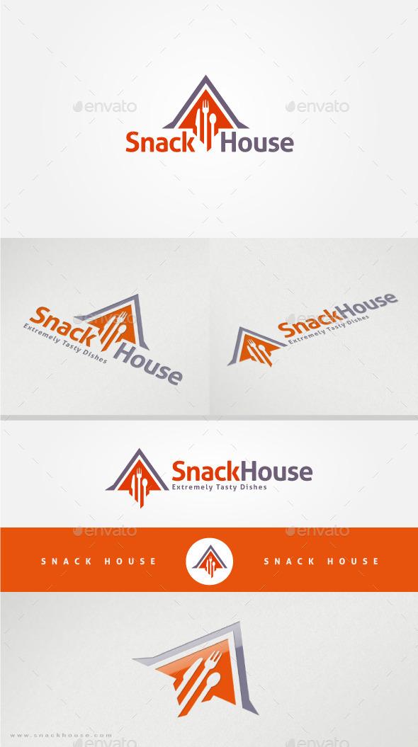 Snack House Restaurant Logo Template - Food Logo Templates