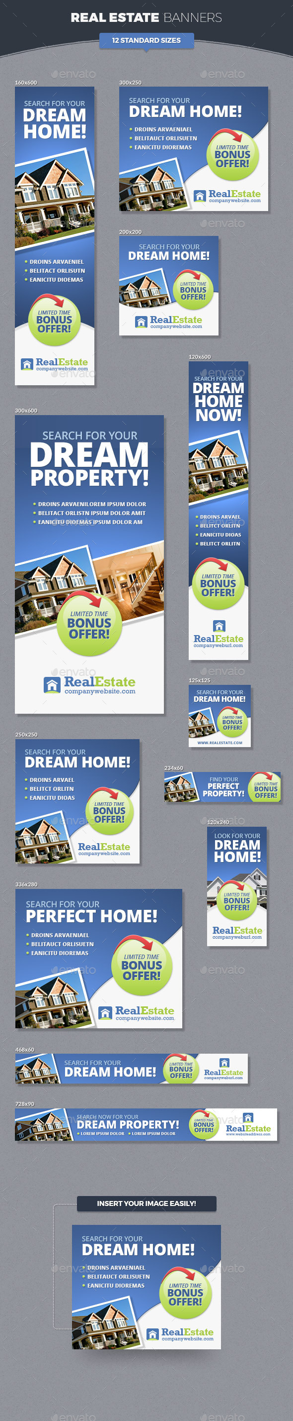 Real Estate Banner Ads by InfiniWeb | GraphicRiver