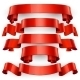 Red Glossy Vector Ribbons - GraphicRiver Item for Sale