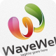 Wave Web / W Letter - Logo Template - GraphicRiver Item for Sale