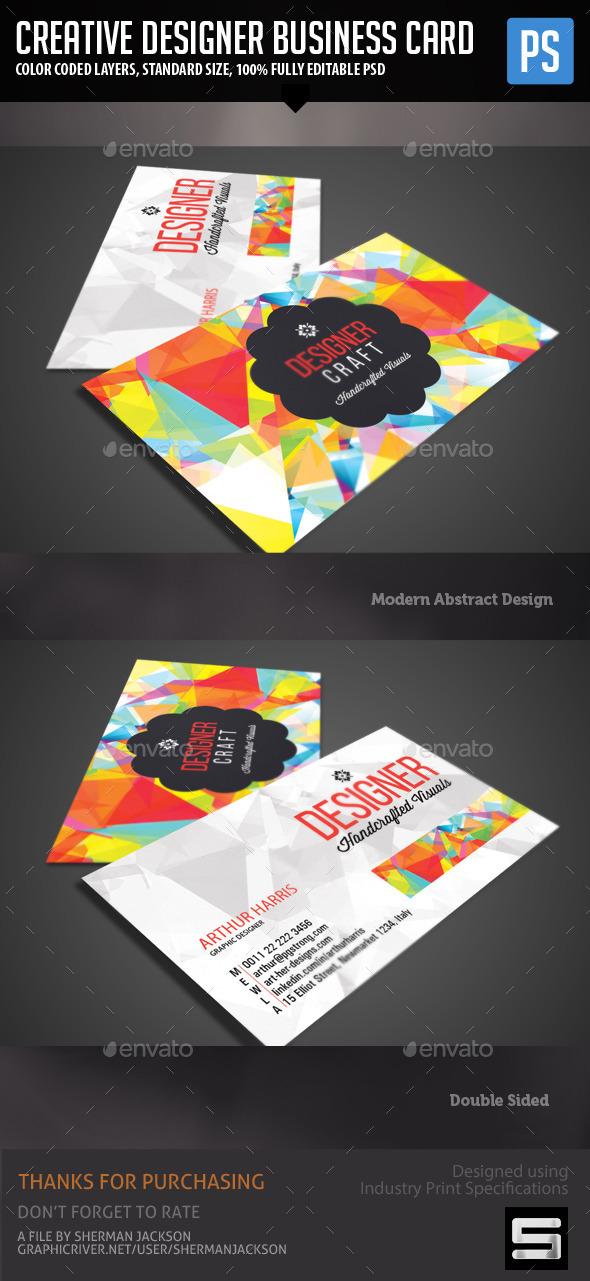 Creative Design Business Card by WiderPurpose | GraphicRiver
