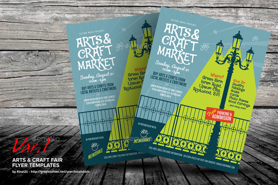 Arts Craft Fair Flyer Templates By Kinzishots Graphicriver