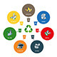 Trash Categories with Recycling Bins - GraphicRiver Item for Sale