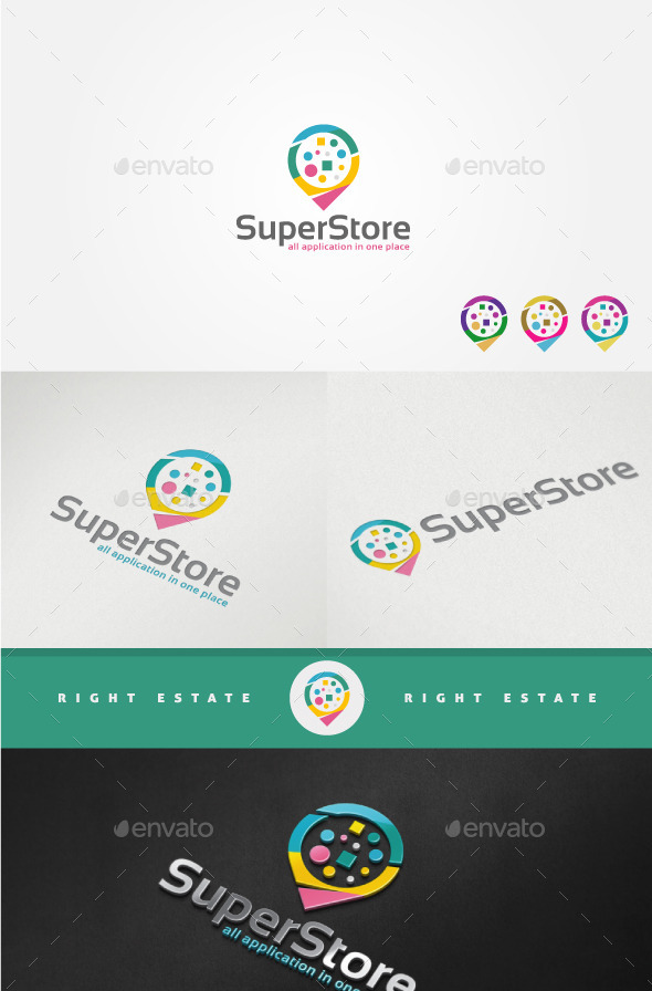 Online Store Logo Template - Abstract Logo Templates