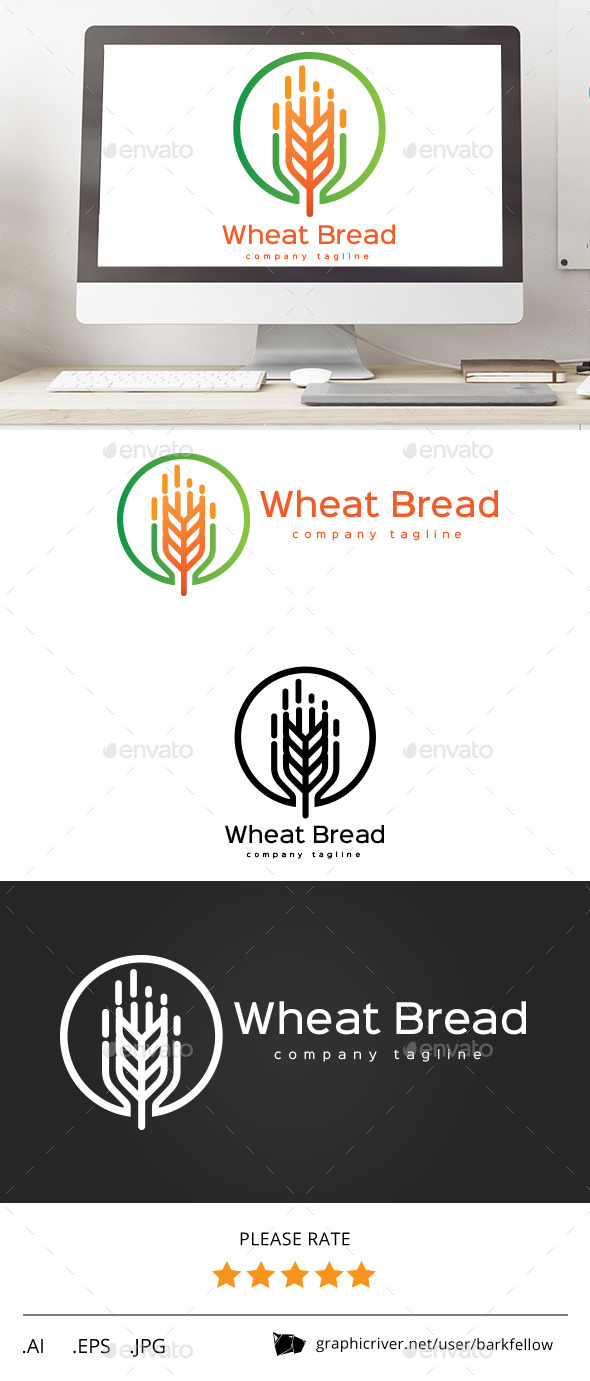 Wheat Bread Logo - Food Logo Templates