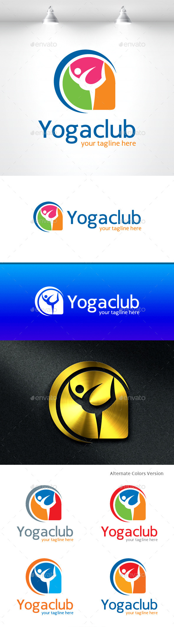 Yoga Club Logo - Objects Logo Templates