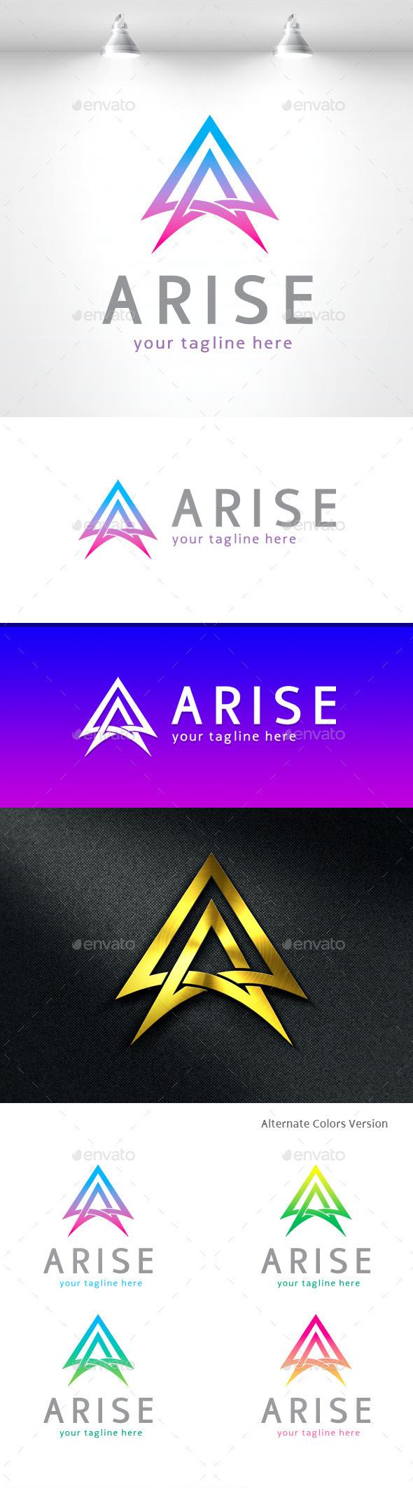 Arise - Letter A Logo - Letters Logo Templates